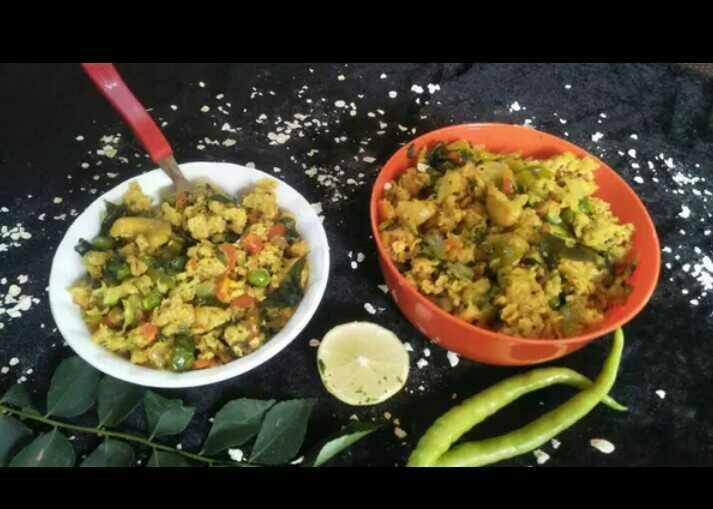 Vegetsble Oats Poha