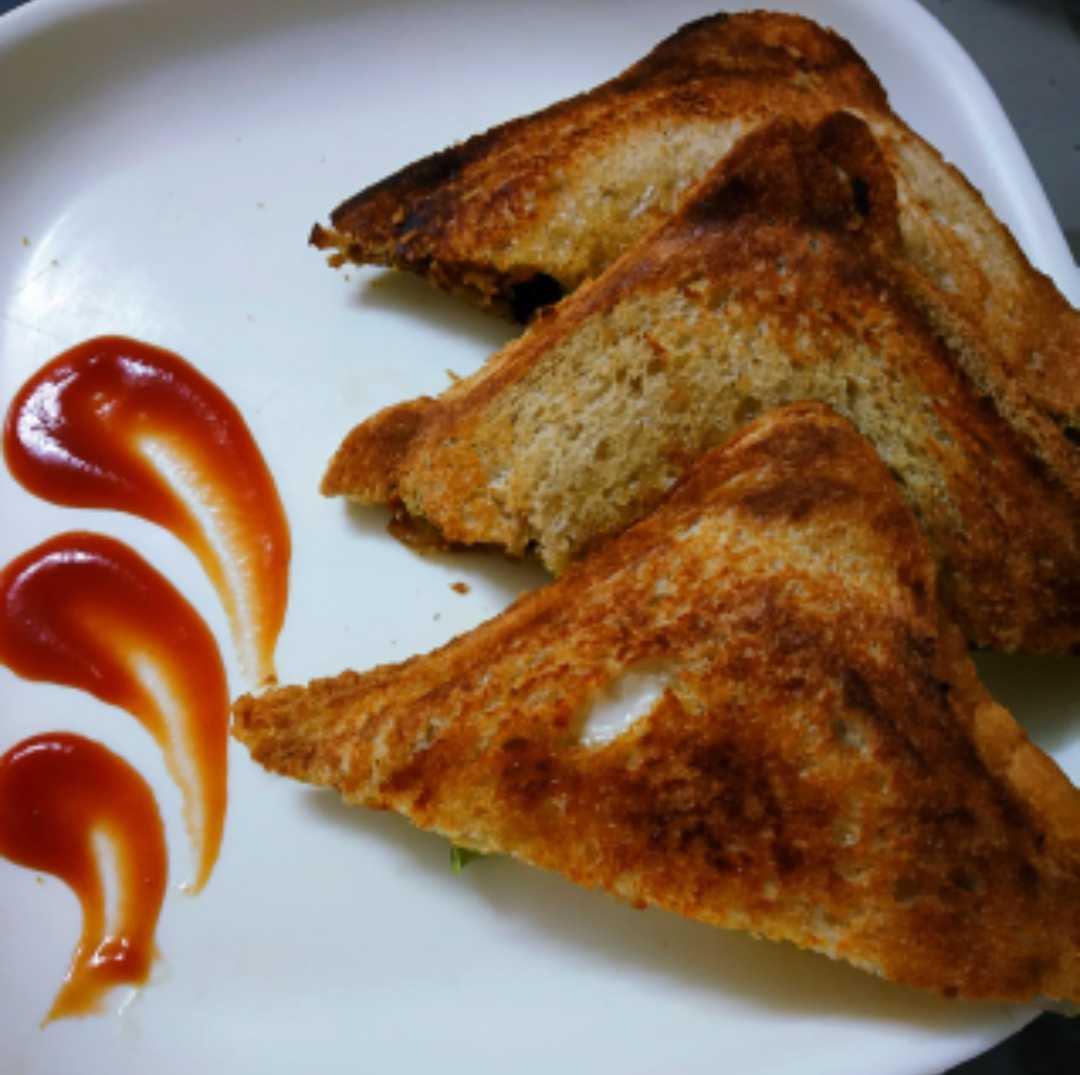 Oats Tikki Sandwich