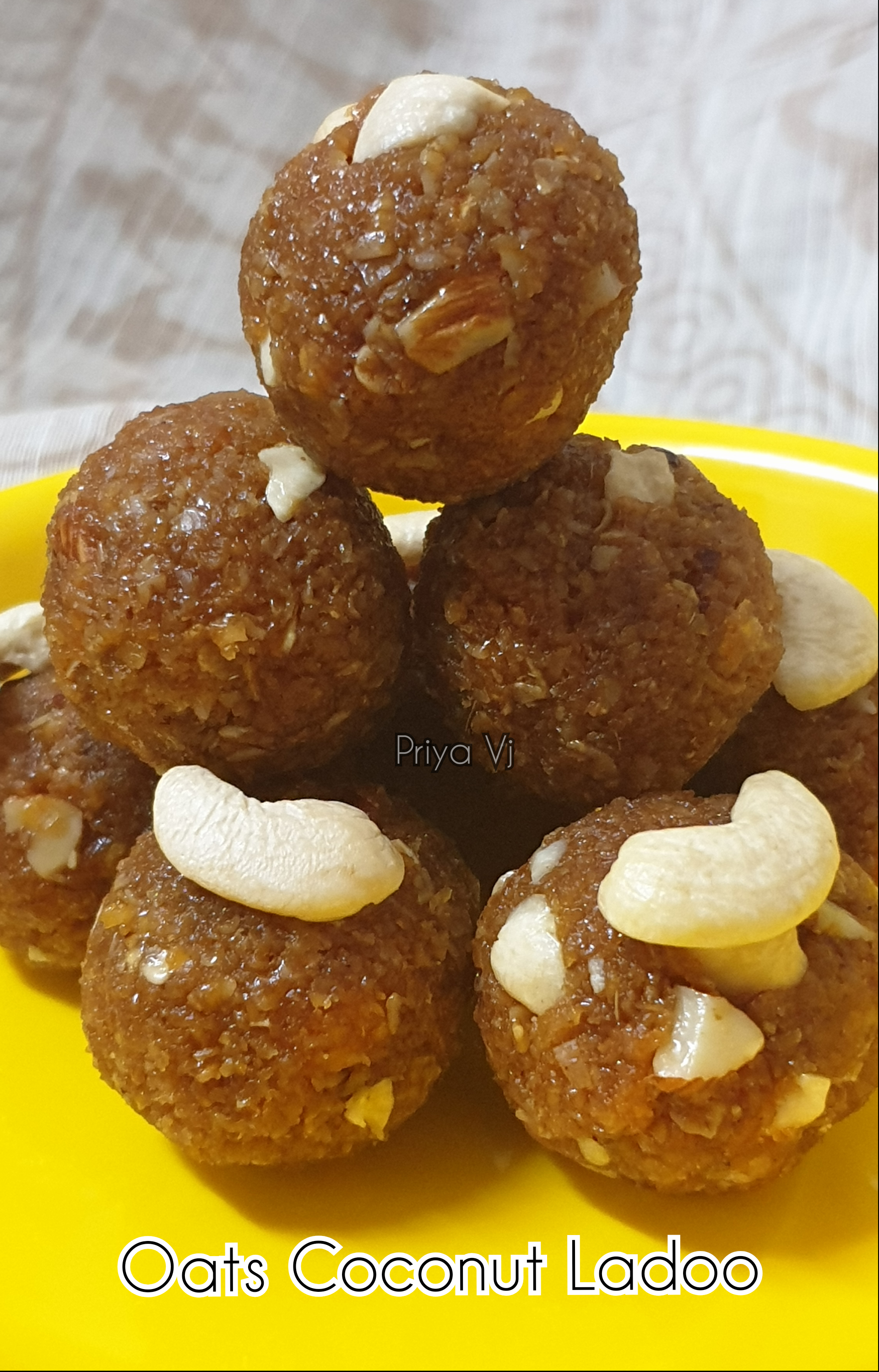Oats coconut Ladoo