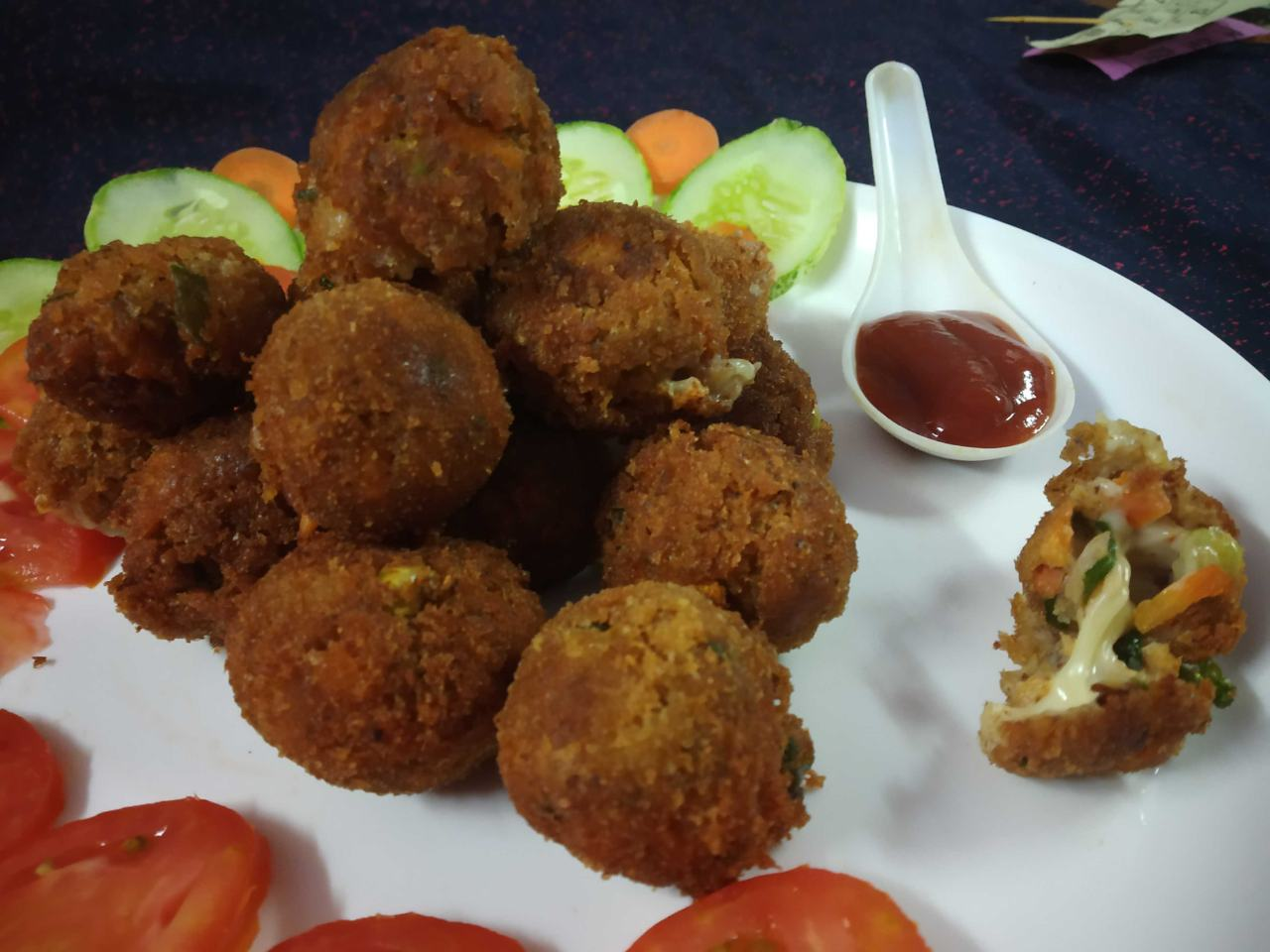Baked Cheese Burst Kathal Seed Bombs