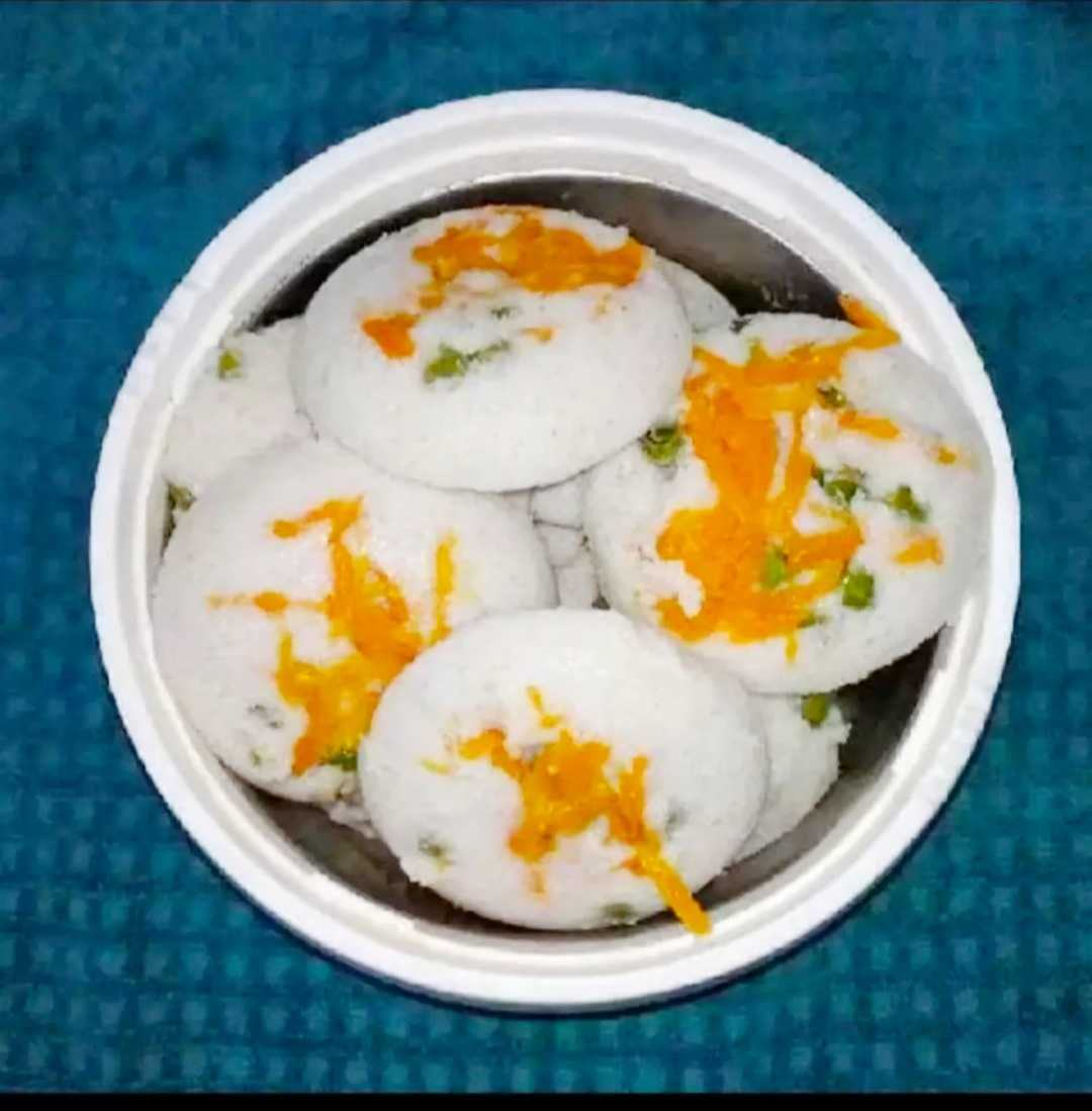 Vegetable Stuffed Idli