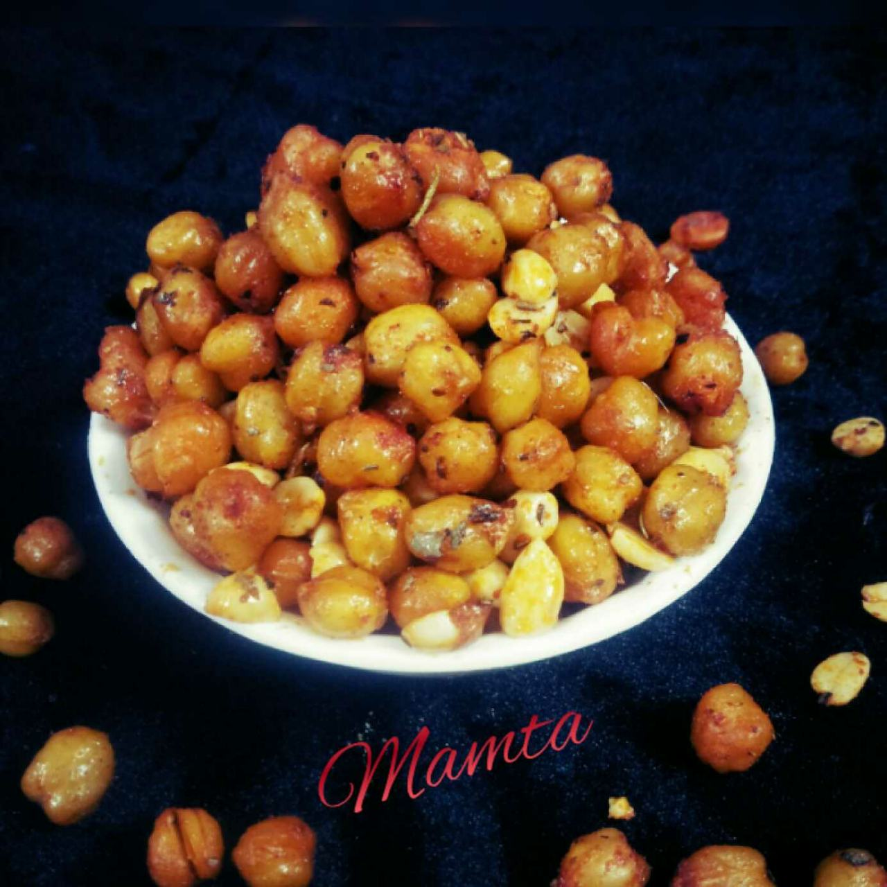 Roasted Chana in microwave.
