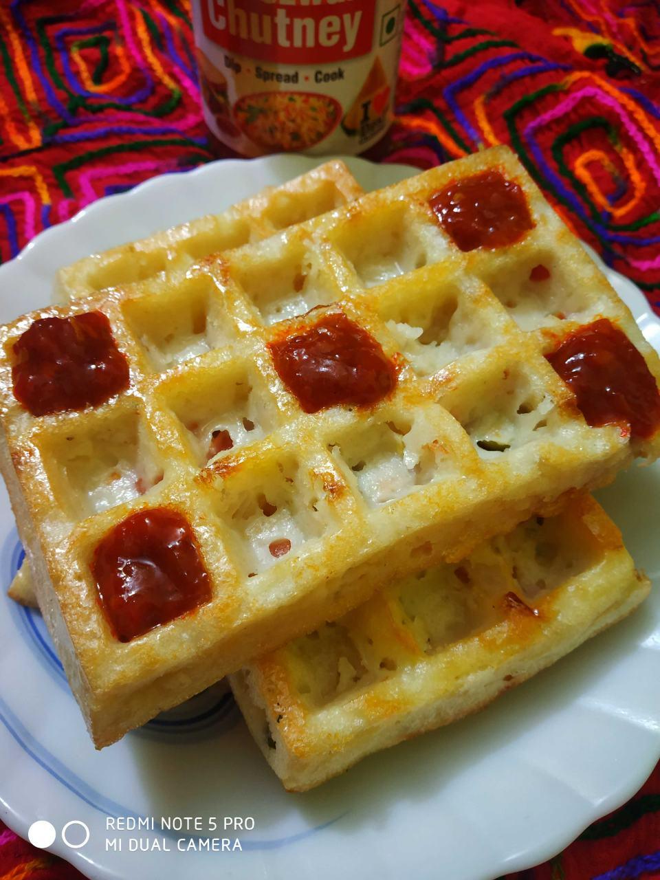No Oil Baked Urad Dal Waffles