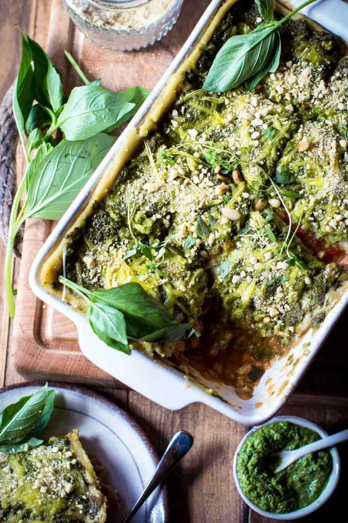 Vegan Pesto Lasagna, Source: Rebel Recipes