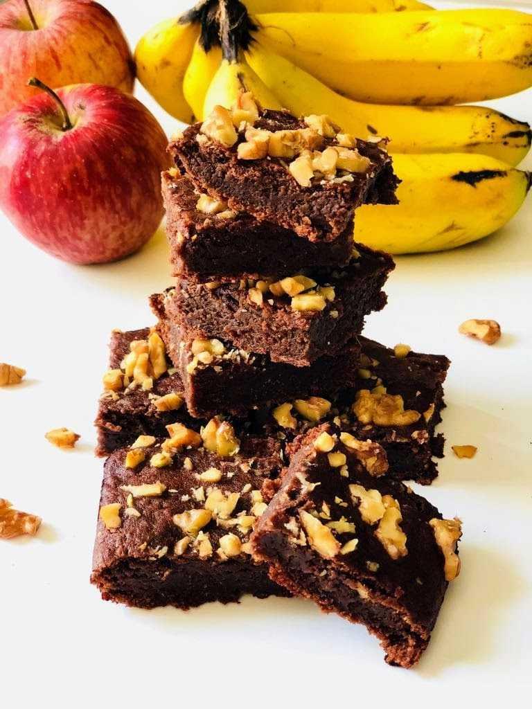 Apple Banana Wlanut Brownies