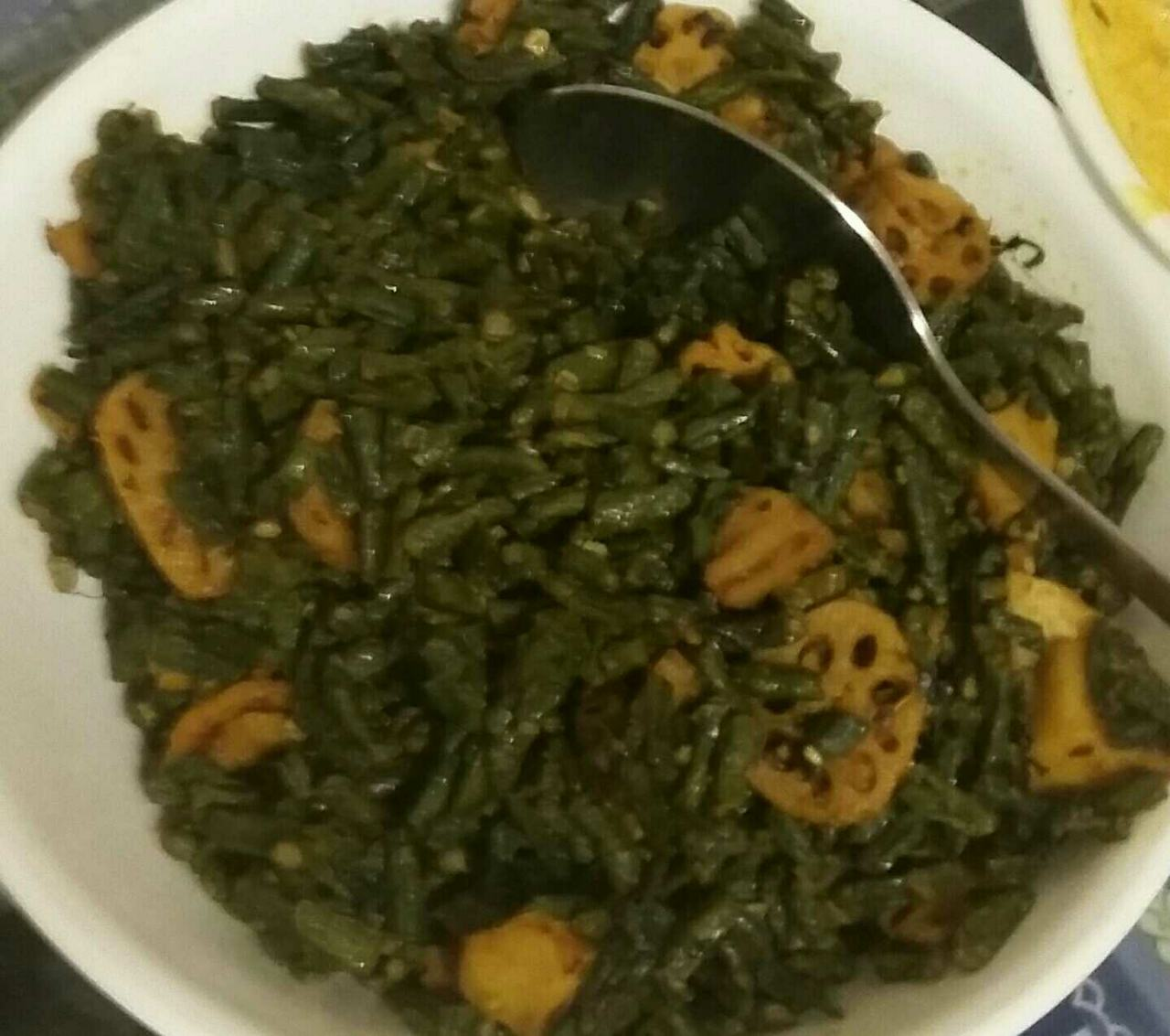 Gavar Beans And Lotus Stem