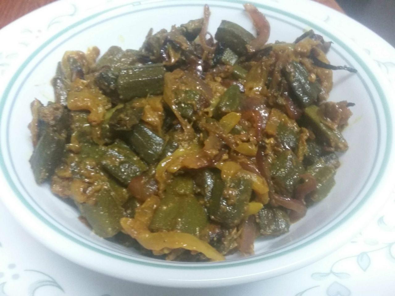 Microwave Bhindi Masala
