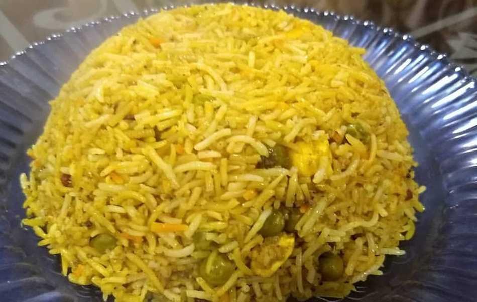Vegetable Biryani In Microwave