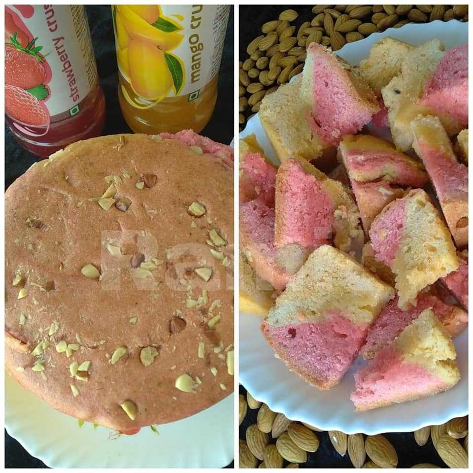 Mango Strawberry Crush Cake