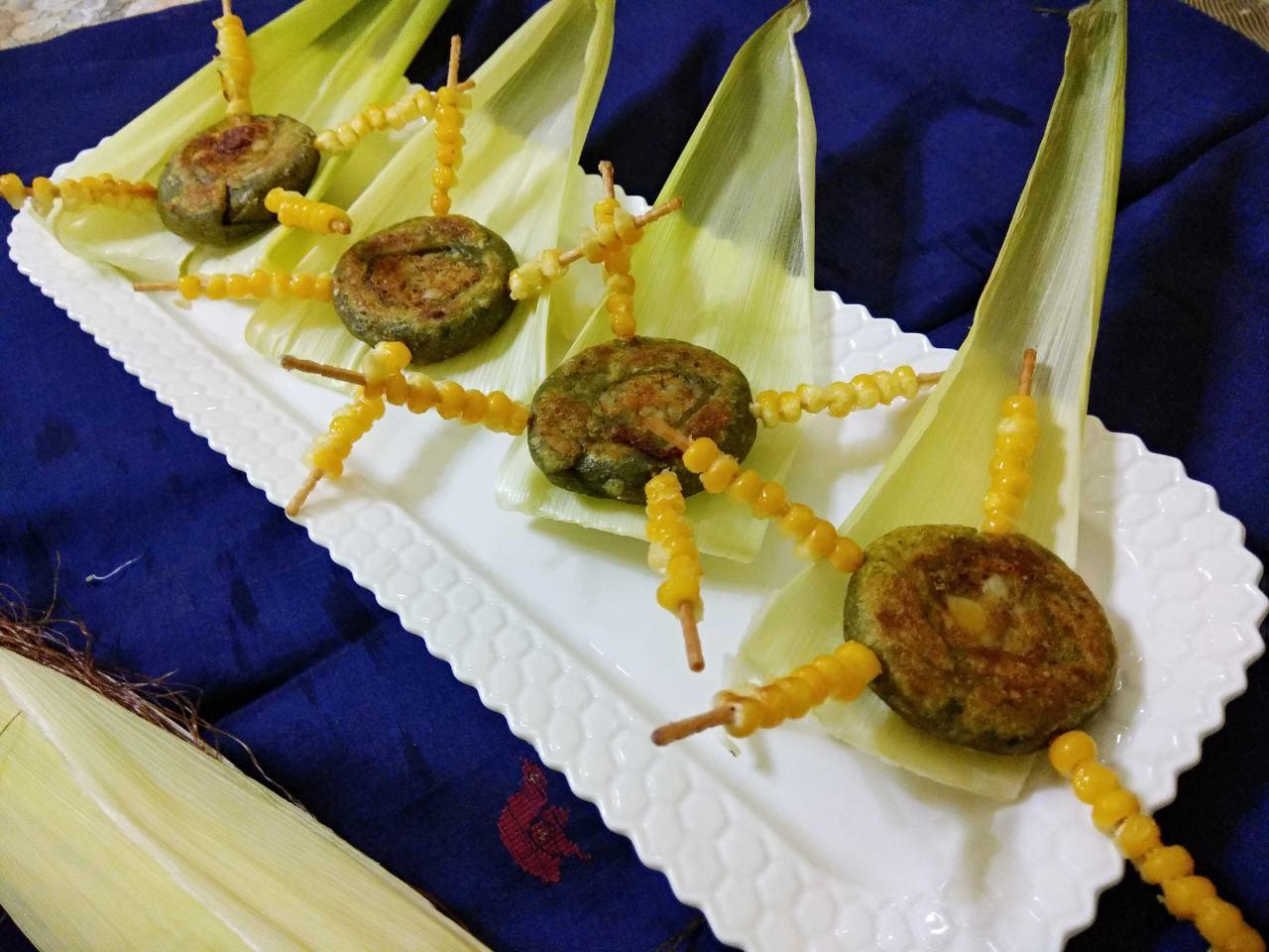 Spinach Kachori With Corns
