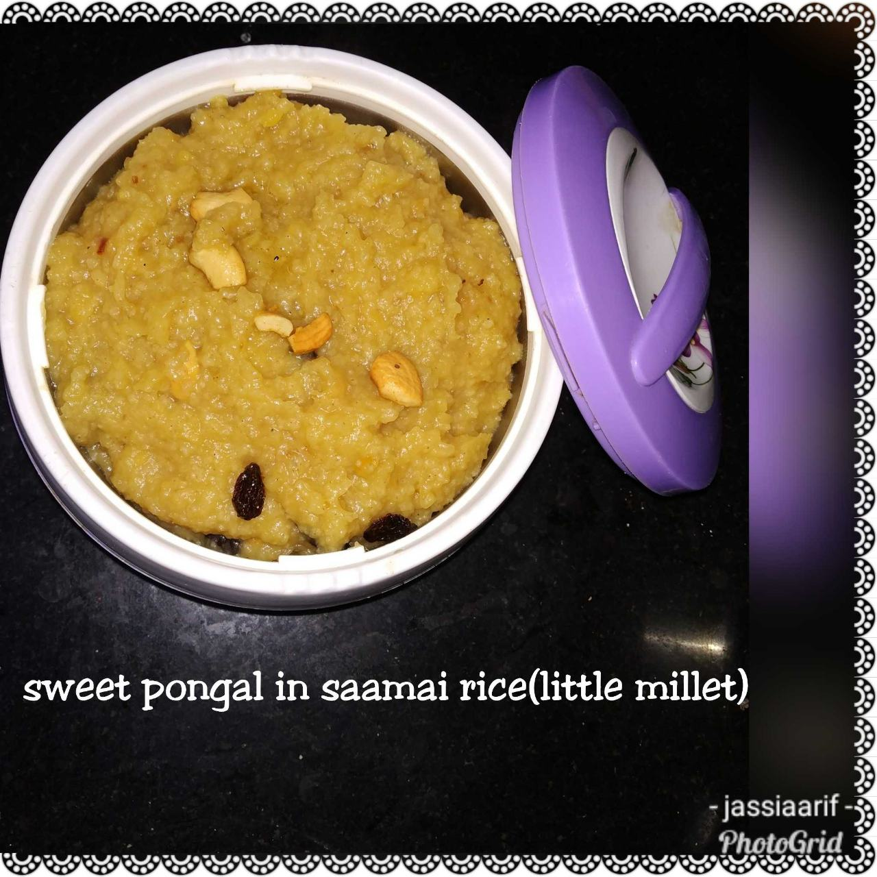 Sweet Pongal With Little Millet