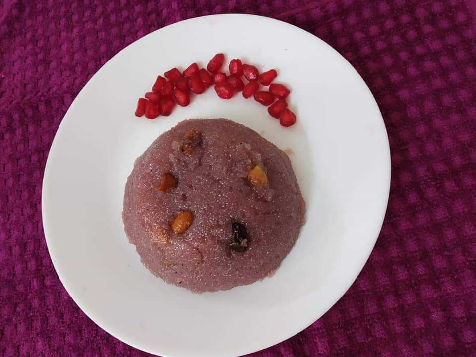 Pomegranate Juice Rava Kaesari