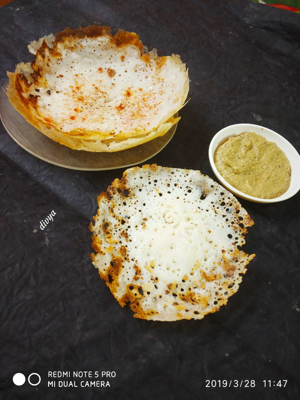 Appam With Aloo Pesto Curry