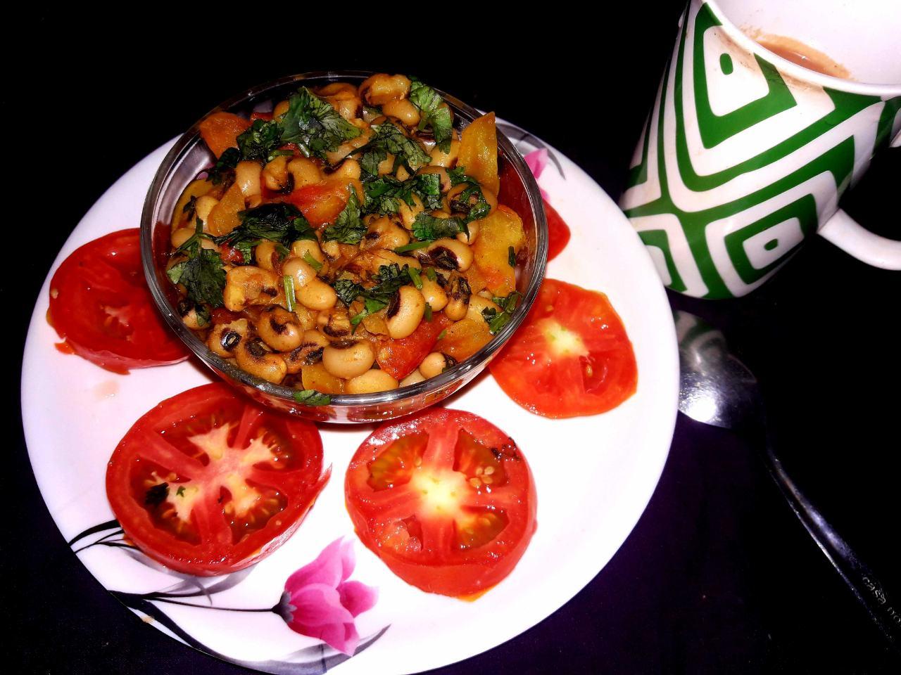 Masala Lobiya Healthy Breakfast