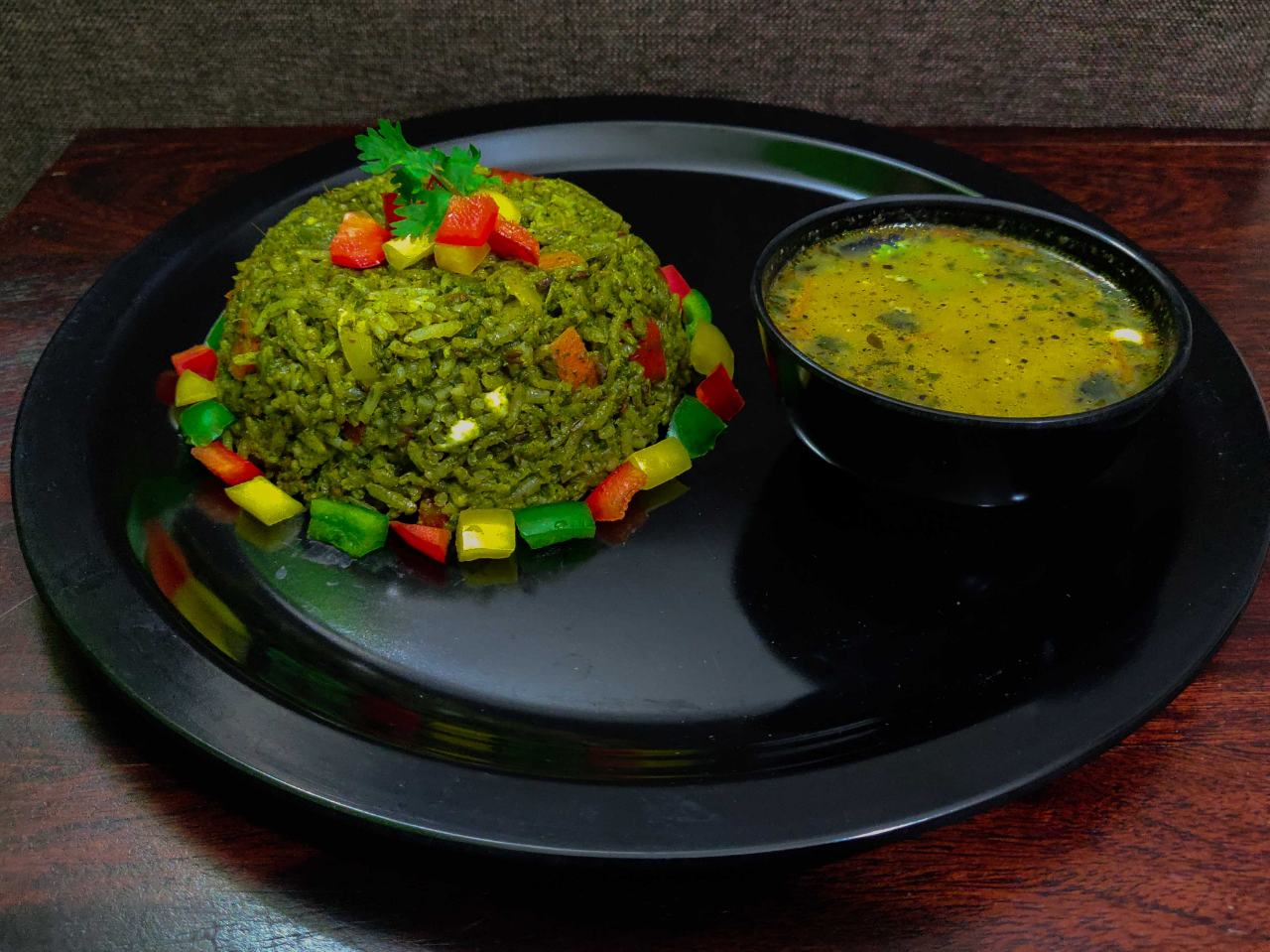 Palak Rice And Mexican Soup