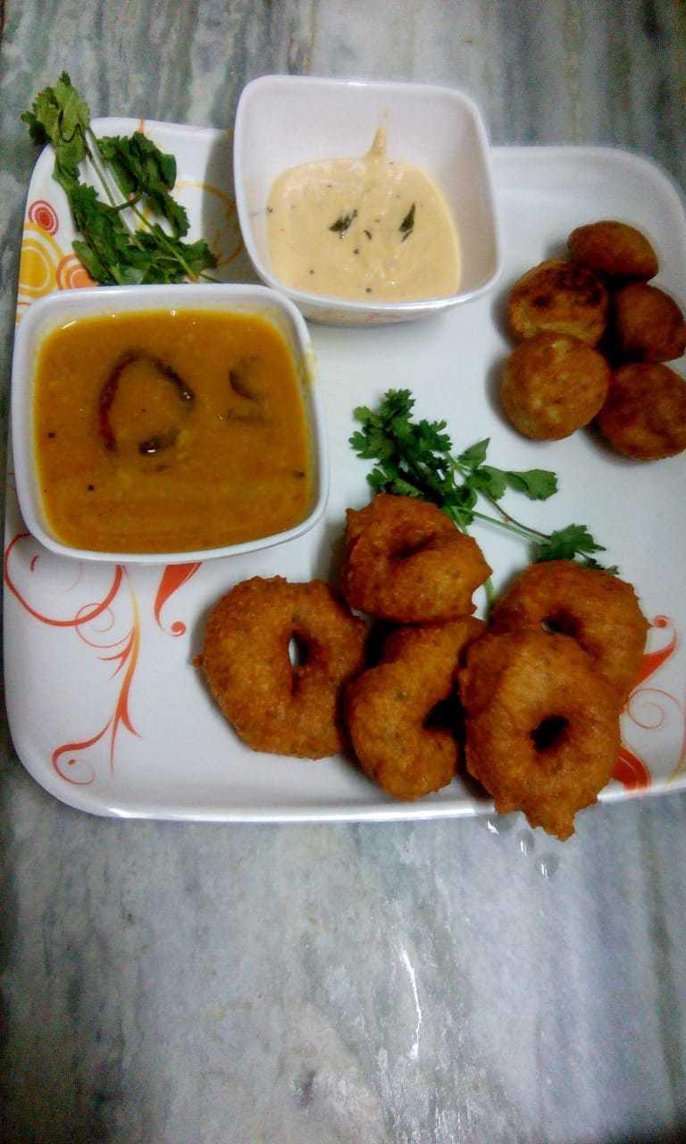#breakfastcombo... Sambhar Vada   Rava Appam