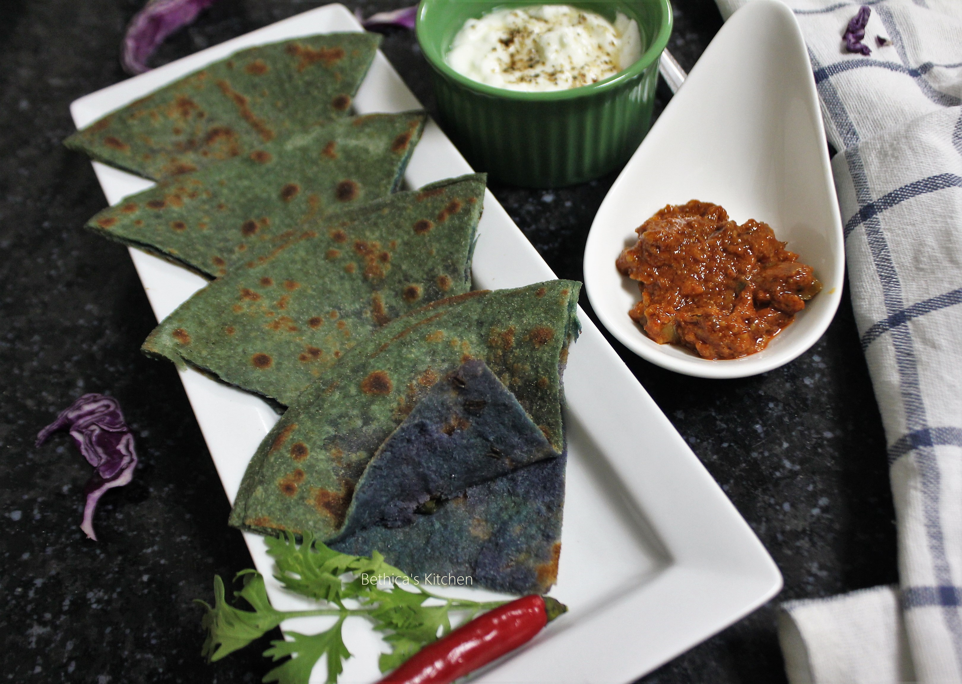 Stuffed Red Cabbage Paratha