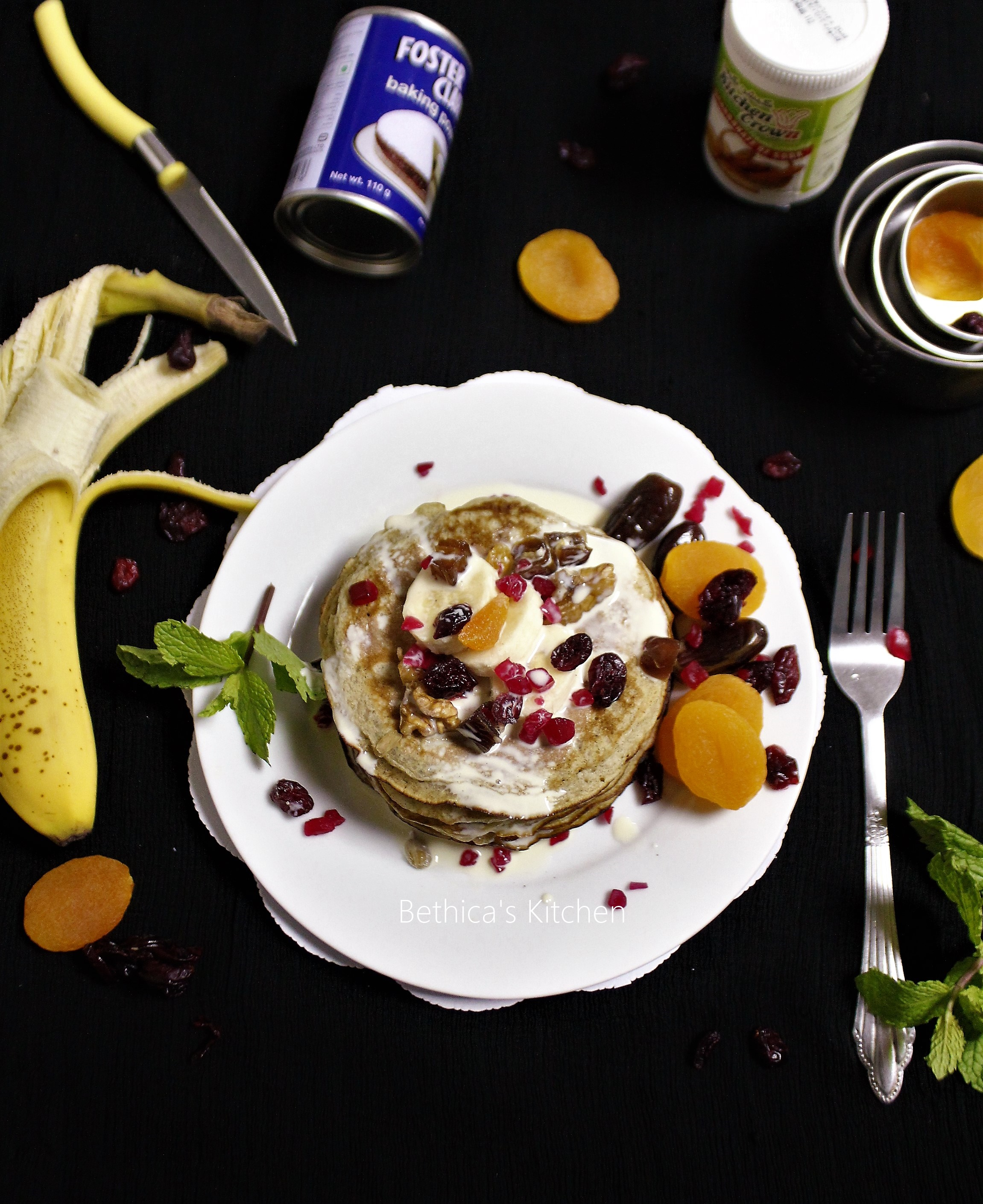 Banana Dry Fruits Pancakes
