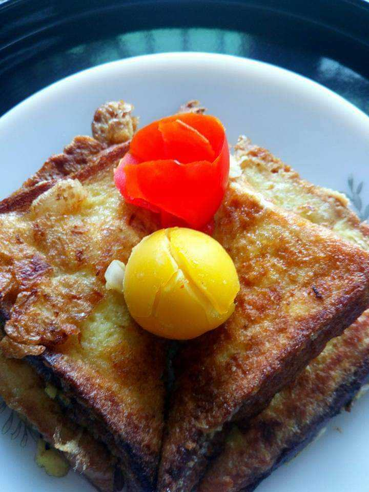 Savory French Toast with Cheese                        #Sunday  Breakfast