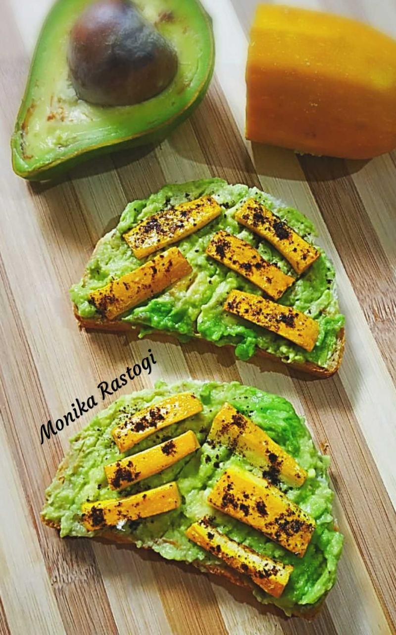 Zucchini Avocado Open Sandwich