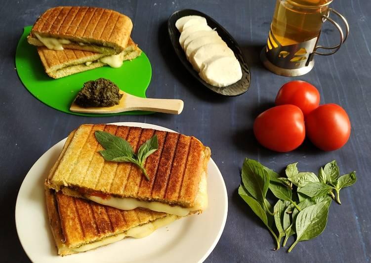 Caprese pesto grilled sandwich
