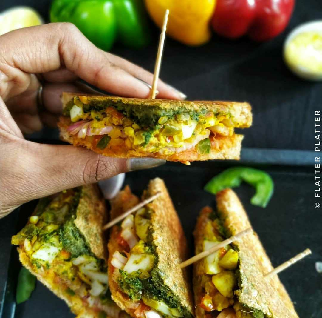 Egg Masala Sandwich