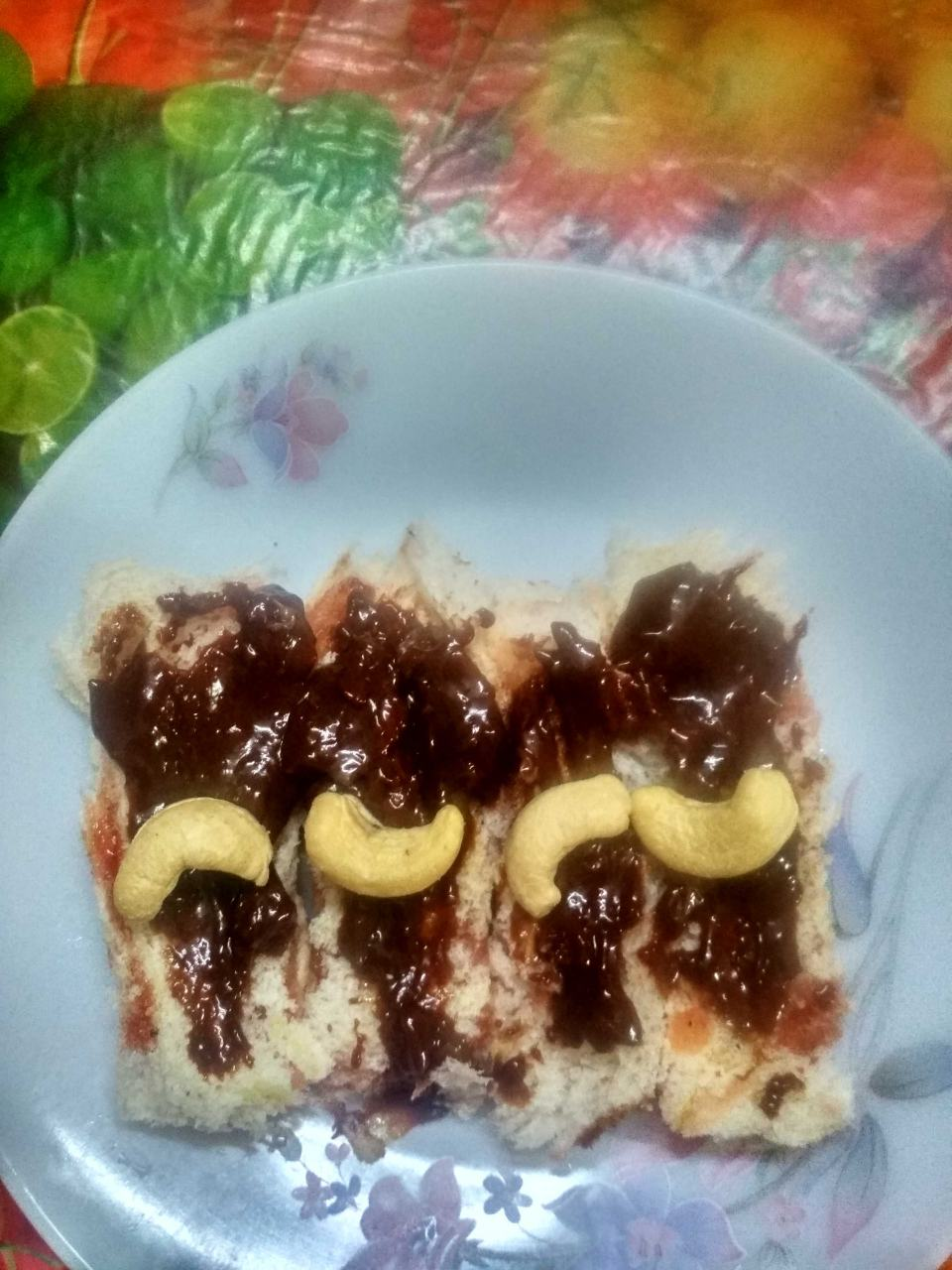 Bread Jam Roll With Hot Chocolate