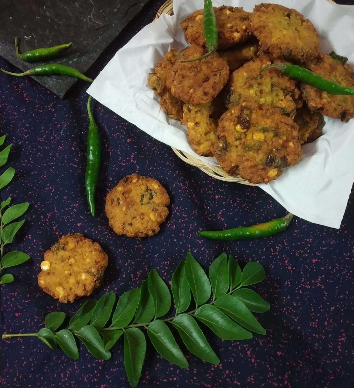 Chana Dal Palak Vada