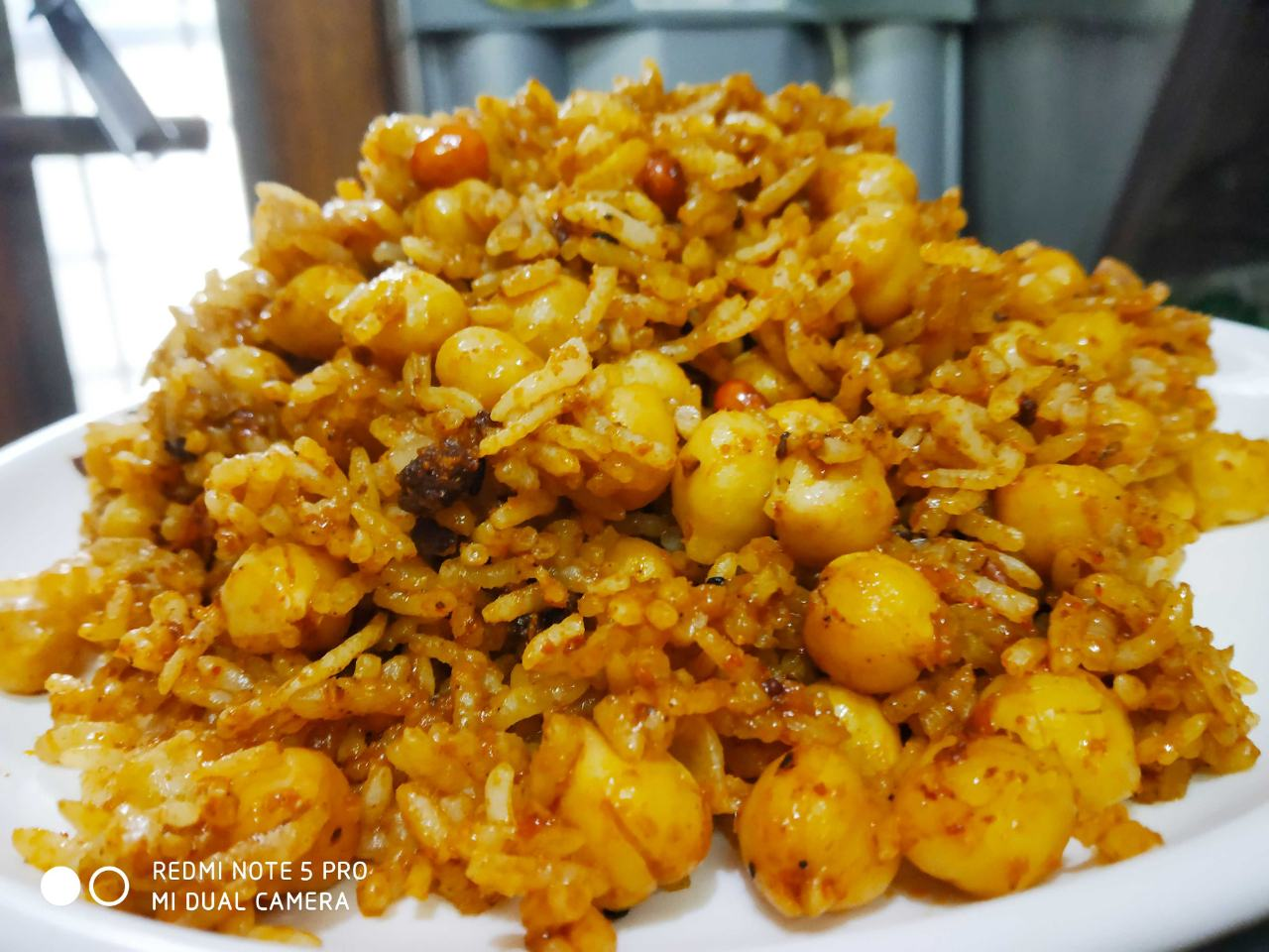 Boiled White Chana Pulao