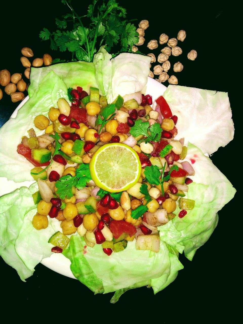 Peanut Chole Salad