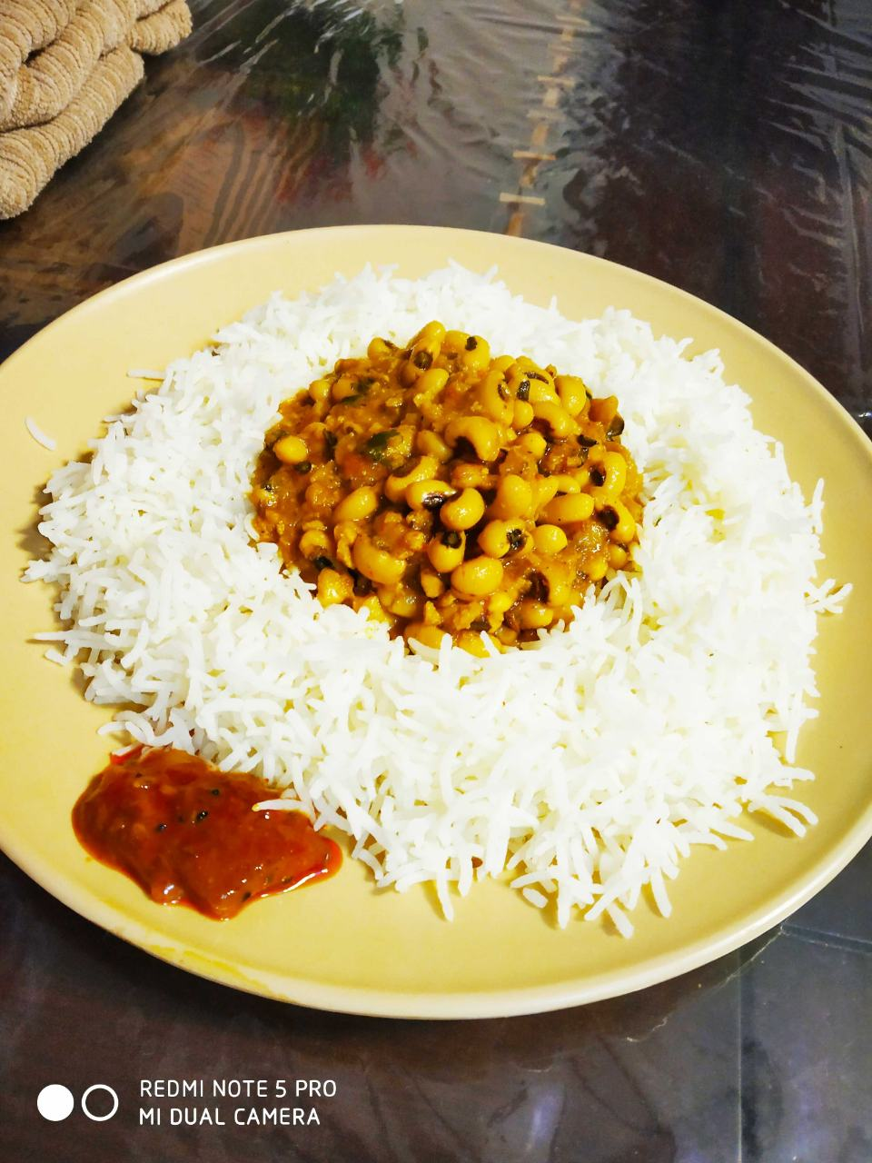 White Lobia with Rice