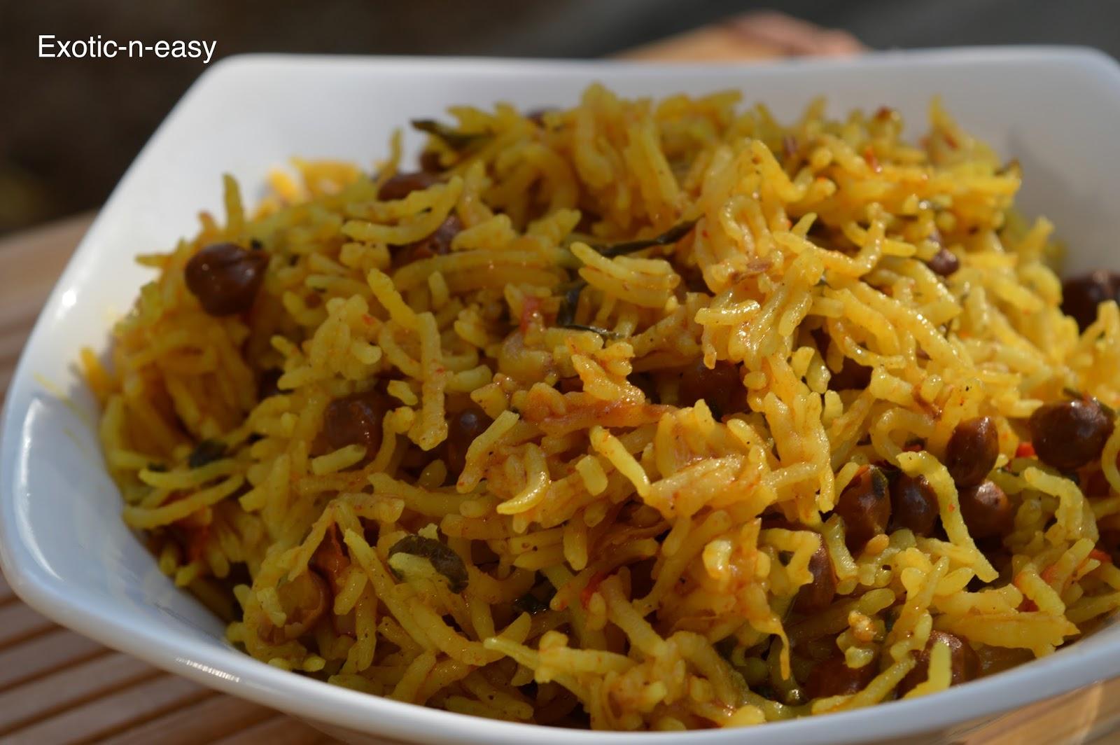 Channa Palak Pulao (Gram Spinach Rice)