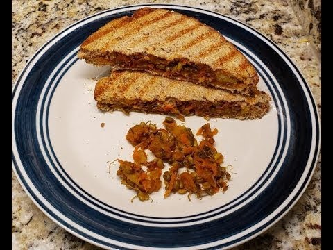 #Sprouts (Mung beans) sandwich#  #High Protein breakfast recipe#
