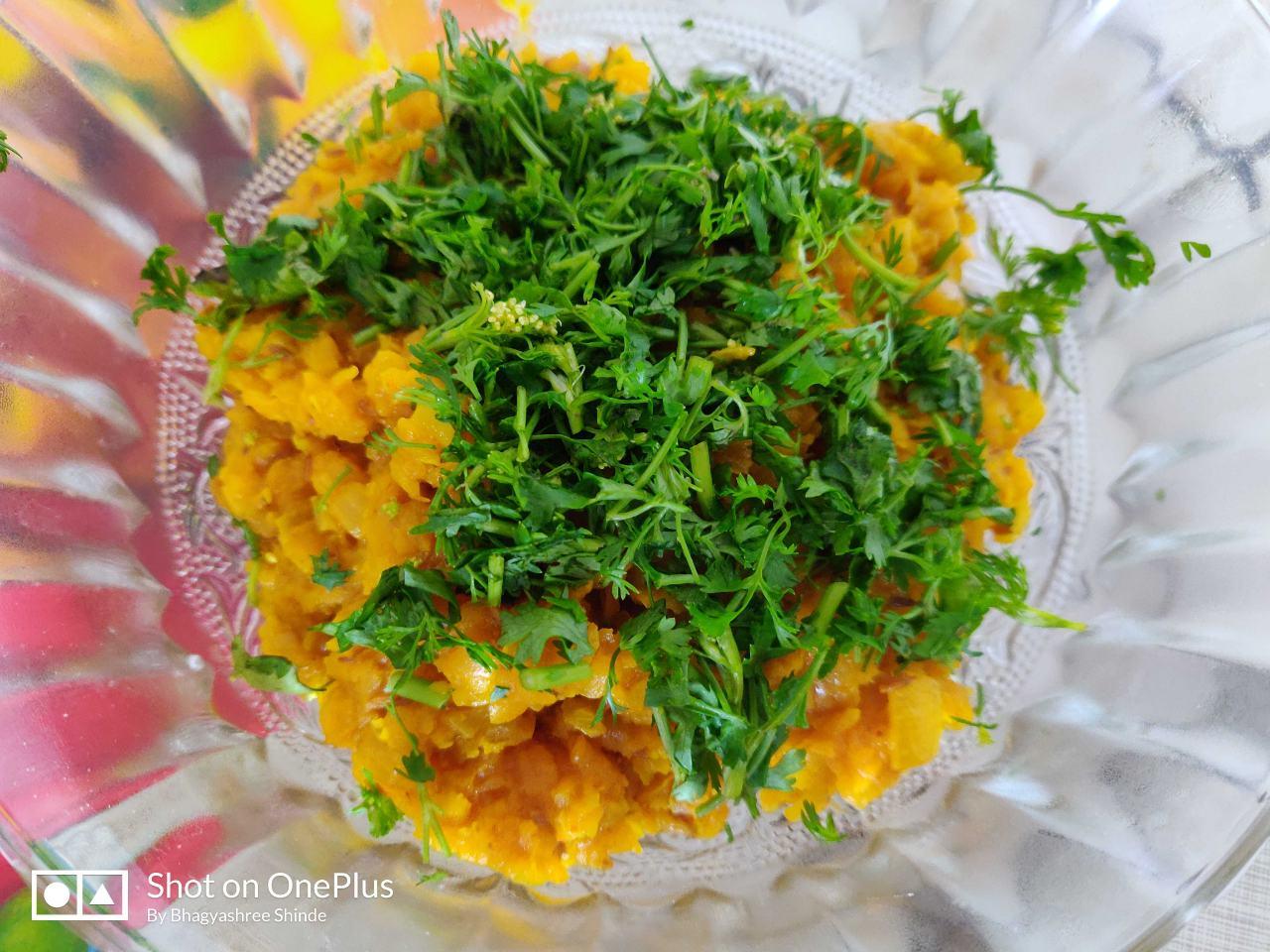 Daal Kanda. Traditional Maharashtrian Dish