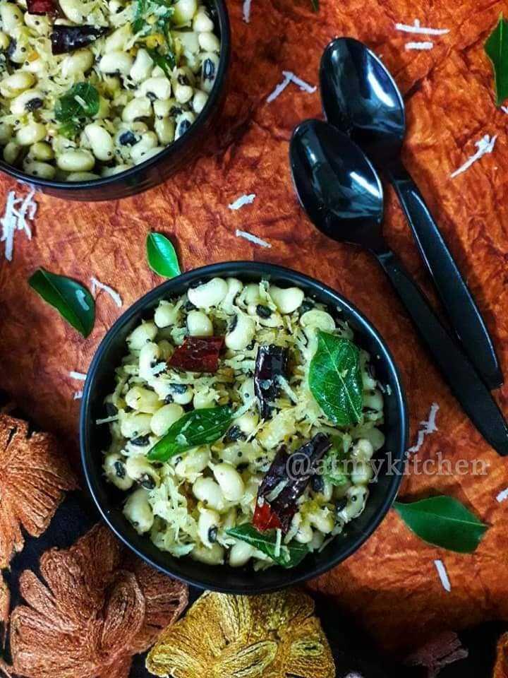 Karamani Sundal / Black Eyes Peas Sundal