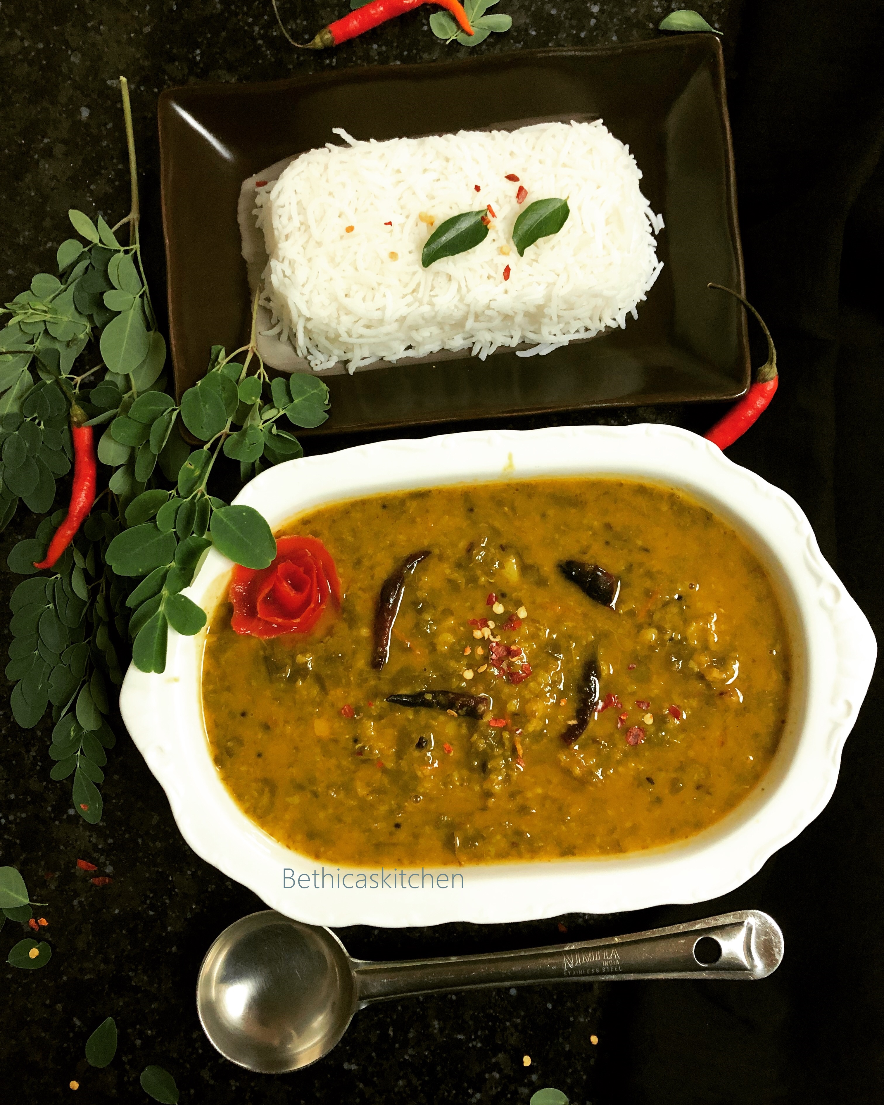 Drumstick Leaves Dal (South Indian Style)