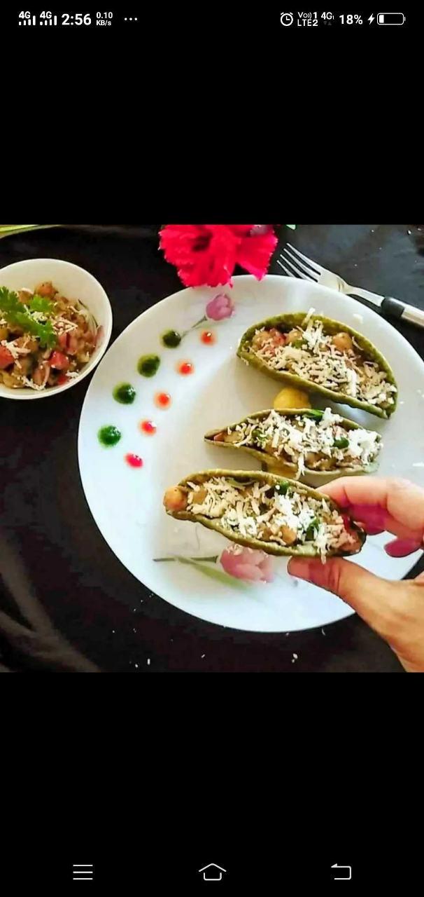 Spinach Tacos With Mayo Chana Salsa
