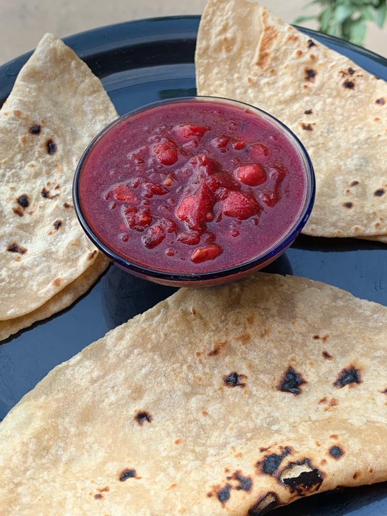 Chole Masala in Beetroot gravy