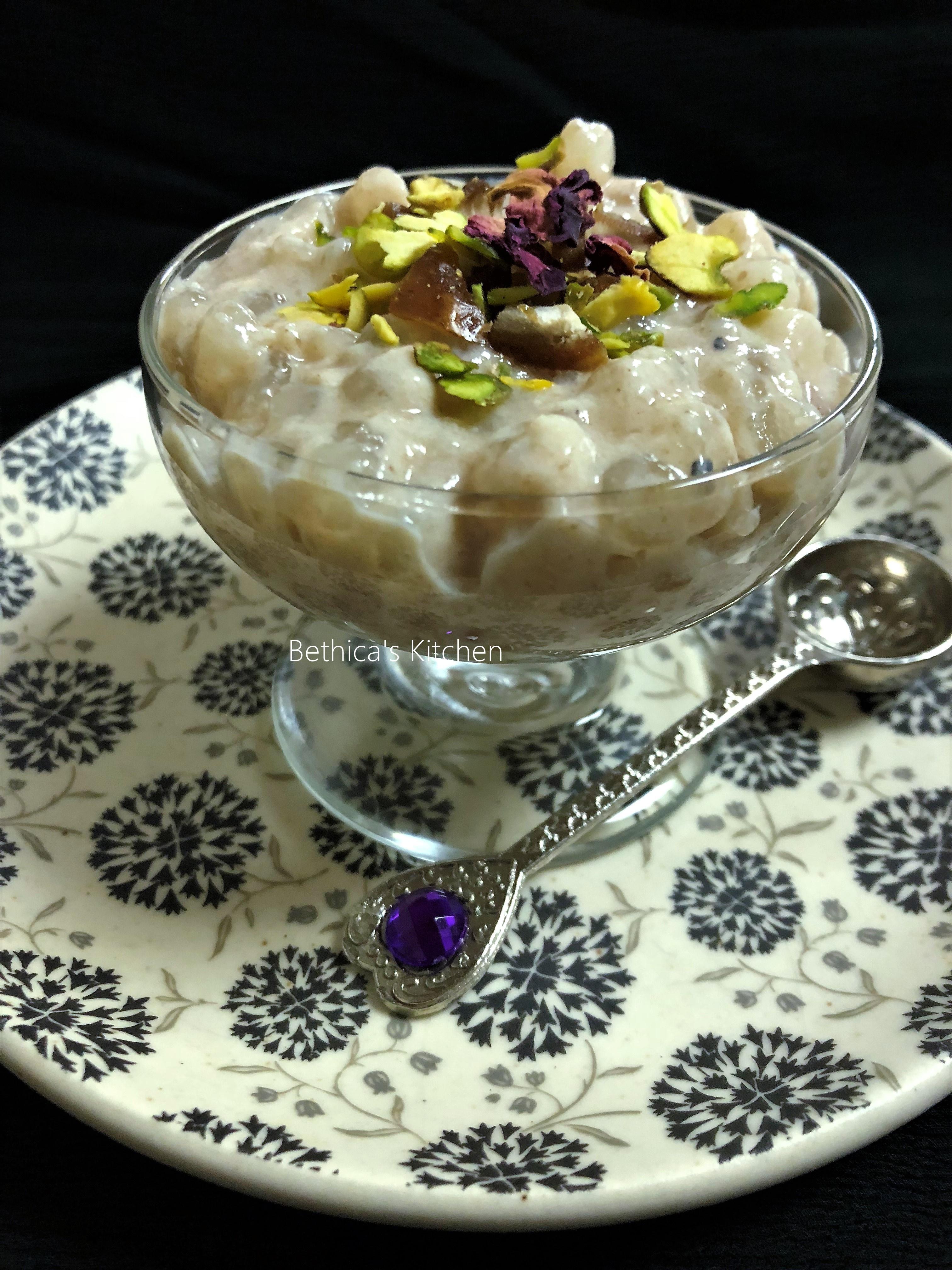 Sago Dates Pudding