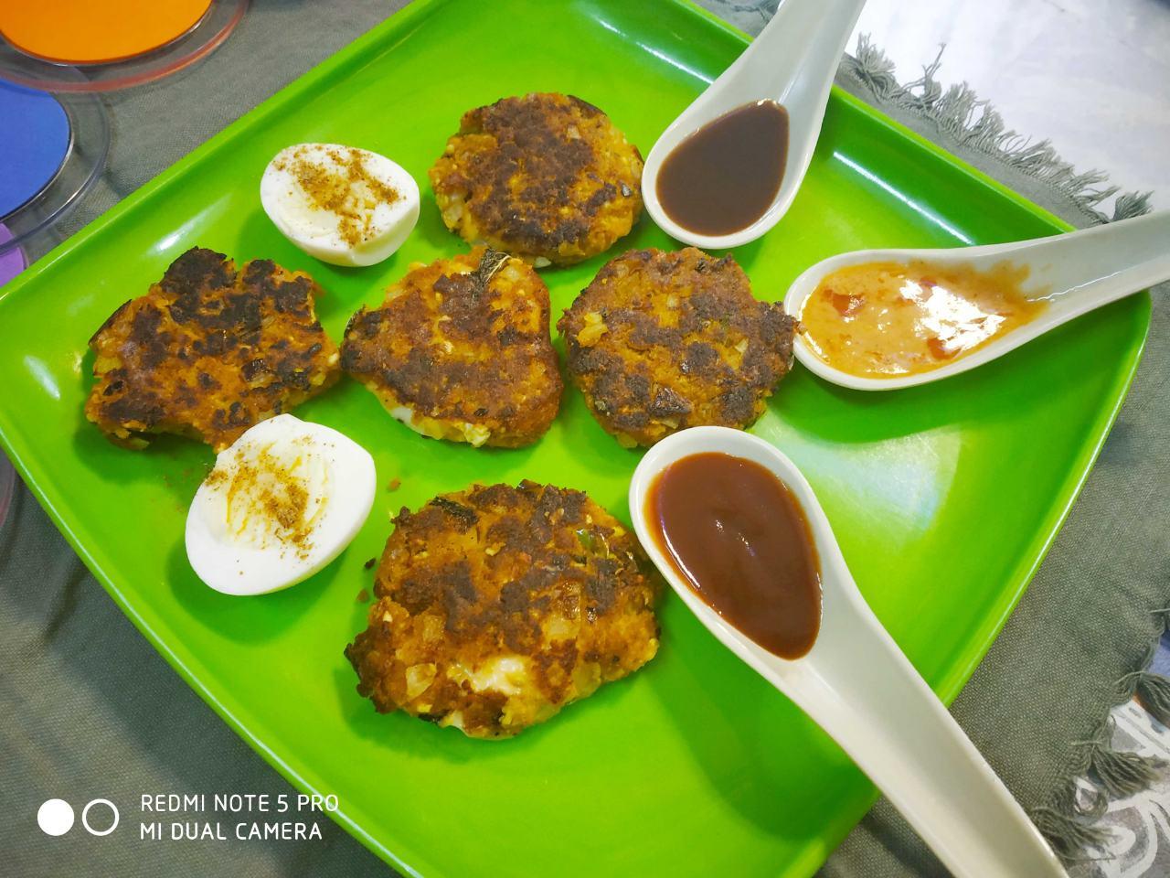 Paneer egg cluster