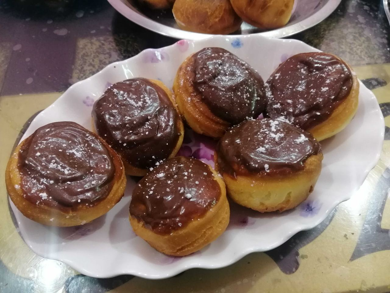 Cream Cheese And Indian Mulberry Filled Doughnuts