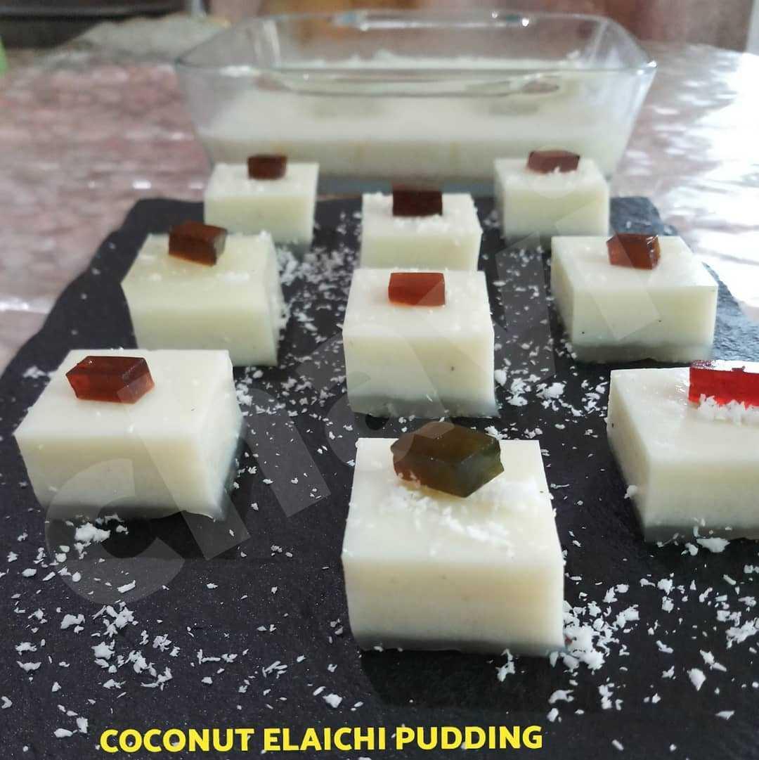 COCONUT ELAICHI PUDDING