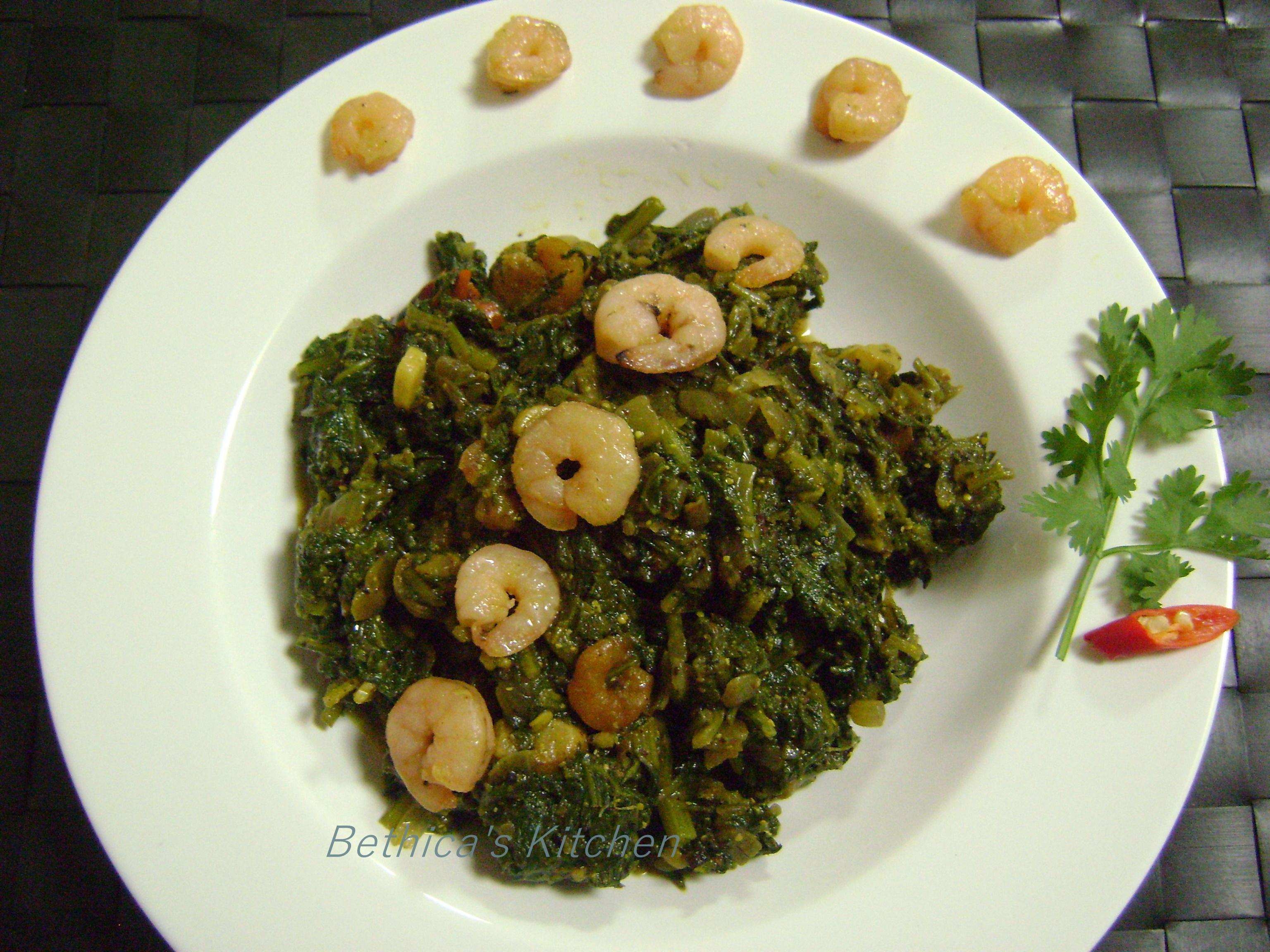 Spinach & Prawns Curry