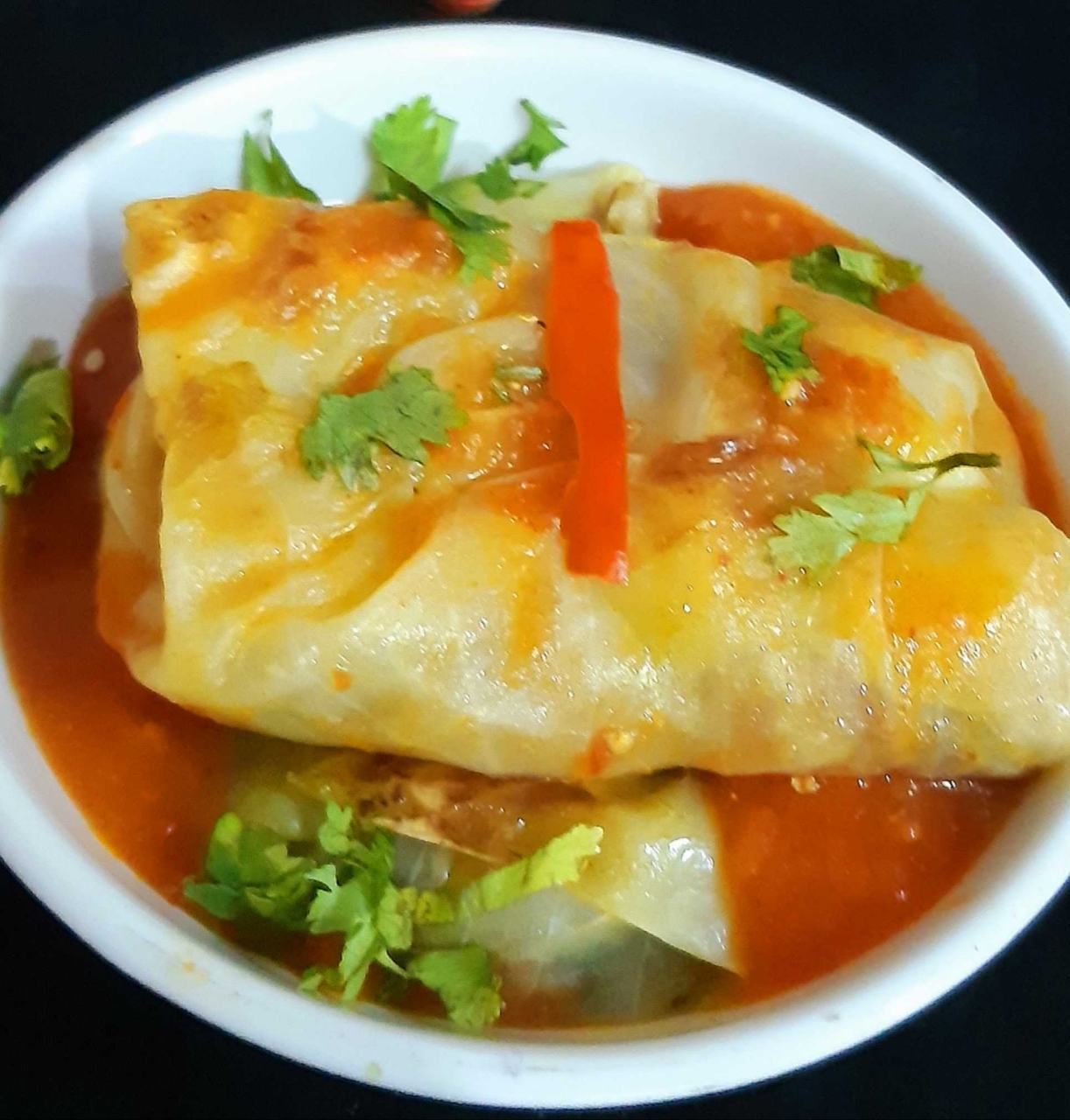 Cabbage Roll In Red Gravy