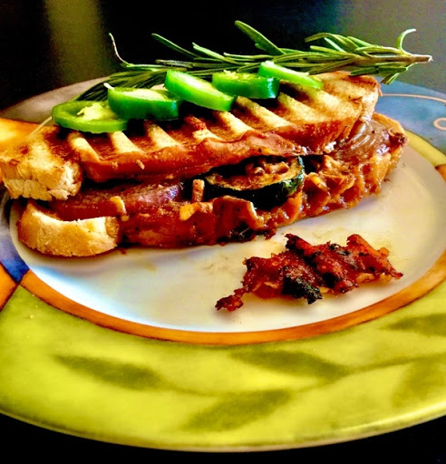 Spicy Grilled Vegetable Italian Sandwich