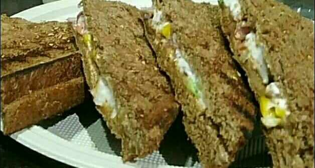 Brown Bread Grilled Hung Curd Sandwich