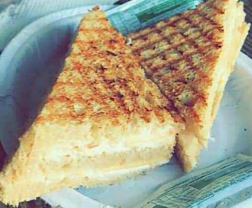 Hung Curd Grilled Sandwich