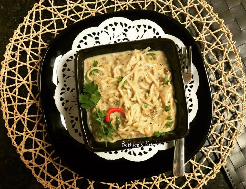 Noodles in White Sauce