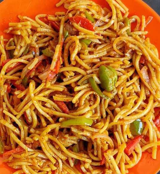 vegetarian tadka noodle
