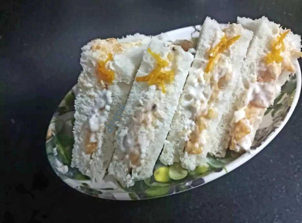 Orange Cream Sweet  Sandwich